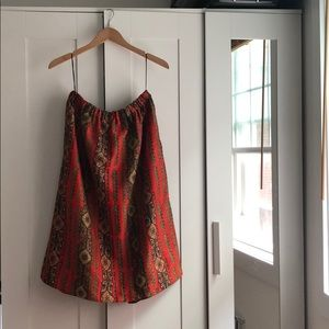 Dresses & Skirts - Printed Skirt with Ruched Waist